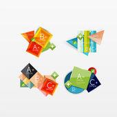 Conjunto de diseños de web moderna infografía geométrica — Vector de stock
