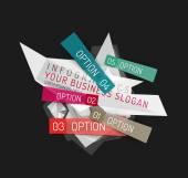 現代多角形折り紙紙のインフォ グラフィック — ストックベクタ
