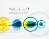 Circle geometric shape composition — Stock Vector