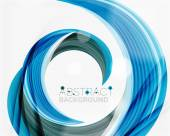 Vector blue swirl line abstract background — Stock Vector