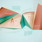 Formas geométricas no ar. vetor abstrato — Vetor de Stock