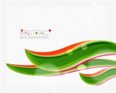Abstract realistic solid wave background — Stock Vector