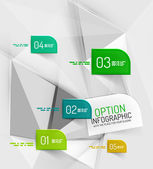 Vector fresh business abstract infographics template — Stock Vector