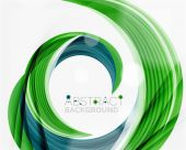 Vector swirl line abstract background — Stock Vector