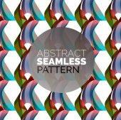 Vector colorful seamless geometric pattern. Modern stylish abstract texture — Stock Vector