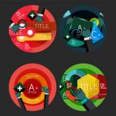 Set of flat design circle option infographics concepts — Stock Vector