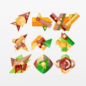 Gráficos de papel diseños web infografía — Vector de stock