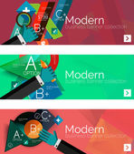 Modern flat design infographic banners — Stock Vector