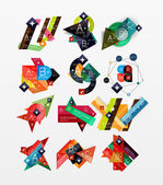 Paper graphics infographic web layouts — Wektor stockowy