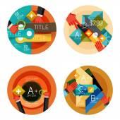 Set of option presentation labels, flat design web infographic boxes — Stock Vector
