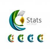 Statistics company logo set. Vector illustration — Stock Vector