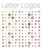 Mega set of various letter logos — Stock Vector