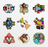 Set of abstract geometric shapes with options — Stock Vector