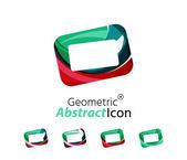 Set of abstract geometric company logo frame, screen — Stock Vector