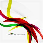 Rainbow color wave stripes — Stock Vector
