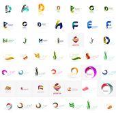 Colección de logo de empresa grande. Icono universal para varias ideas — Vector de stock