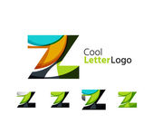 Set of abstract Z letter company logos — Stock Vector