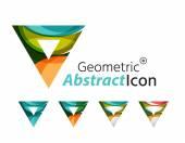 Set of abstract geometric company logo triangles, arrows — Stock Vector