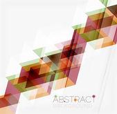 Fondo abstracto geométrico. triángulos superpuestos modernos — Vector de stock