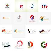 Set of universal company logo ideas, — Stock Vector