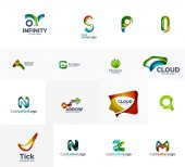 Set of universal company logo ideas, — 图库矢量图片