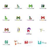 普遍的な会社ロゴのアイデアのセット, — ストックベクタ