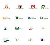 Set of universal company logo ideas, — 图库矢量图片