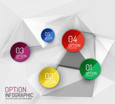 Fresh business abstract infographics template — Stock Vector