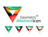 Set of abstract geometric company logo — Stock Vector