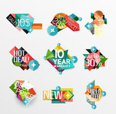 Set of labels, stickers, banners, — Stock Vector