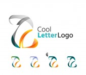 Set of abstract Z letter company logos. — Stock Vector