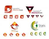 Universal abstracto geométrica - emblemas de negocios — Vector de stock