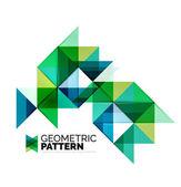 Geometric triangle mosaic pattern element isolated on white — Wektor stockowy