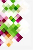 Square shape mosaic pattern design. Universal modern composition — ストックベクタ