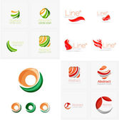 Universal abstract geometric shapes - business emblems — Stock Vector