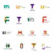 Set of universal company logo ideas, business icon collection — Stock Vector
