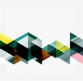 Abstrakt geometrisk bakgrund. moderna överlappande trianglar — Stockvektor