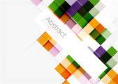 Square shape mosaic pattern design. Universal modern composition — Stock Vector
