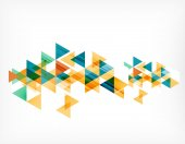 Triangle pattern composition, abstract background with copyspace — Stock Vector
