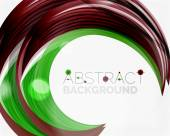 Green swirl line abstract background — Stock Vector