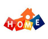 Home geometric banner design — Stock Vector