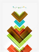 Clean colorful unusual geometric pattern — Stock Vector
