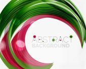 Linha de redemoinho vector verde — Vetor de Stock