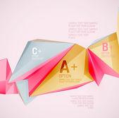Formas geométricas en el aire. — Vector de stock