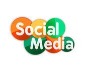 Bandera de medios social — Vector de stock