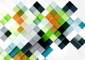 Square shape mosaic pattern design. — Stock Vector