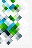 Projeto de padrão de mosaico de forma de quadrado. Composição moderna universal — Vetor de Stock