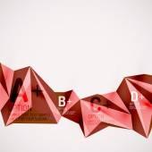 空気中の幾何学的図形。抽象的な背景のベクトル — ストックベクタ