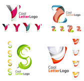 Letter business emblem collection — Stock Vector