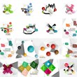 Set of abstract geometric paper infographic banner templates — Stock Vector #81744268